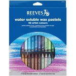Reeves™ Water Soluble Wax Pastel 48-Color Set; Color: Multi; Format: Stick; Type: Wax; (model 4890587), price per set