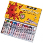 Cray-Pas® Junior Artist® Oil Pastel 16-Color Set: Multi, Stick, Oil, (model XEP16), price per pack