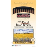 General's MultiPastel Pastel Pencil Set: 12 Colors