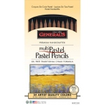 General's® MultiPastel® Pastel Pencil 24-Color Set; Color: Multi; Format: Pencil; (model G4401-24A), price per set