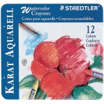 Staedtler® Karat Aquarell Watercolor Crayon 12-Color Set; Type: Watercolor; (model 223M12), price per set