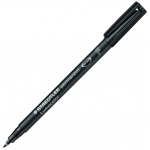 Lumocolor® Permanent Fine Black Marker; Color: Black/Gray; Tip Type: Fine Nib; (model 318-9), price per each