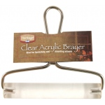 "Heritage Arts™ 6"" Acrylic Brayer: Clear, 1"", Acrylic, 6"", (model AB01-6), price per each"