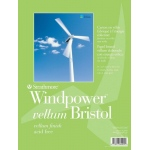 "Strathmore® Windpower™ 14 x 17 Vellum Tape Bound Bristol Pad: Tape Bound, White/Ivory, Pad, 15 Sheets, 14"" x 17"", 100 lb, (model ST642-114), price per 15 Sheets pad"