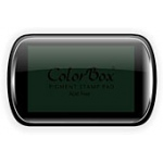 ColorBox® Full Size Ink Pad Evergreen; Color: Green; Format: Pad; Ink Type: Pigment; Shape: Full Size Rectangle; (model CS15023), price per each
