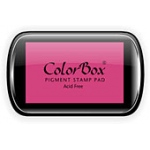 ColorBox® Full Size Ink Pad Pink; Color: Red/Pink; Format: Pad; Ink Type: Pigment; Shape: Full Size Rectangle; (model CS15033), price per each