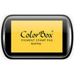 ColorBox® Full Size Ink Pad Canary: Yellow, Pad, Pigment, Full Size Rectangle, (model CS15011), price per each