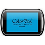 ColorBox® Full Size Ink Pad Cyan; Color: Blue; Format: Pad; Ink Type: Pigment; Shape: Full Size Rectangle; (model CS15019), price per each
