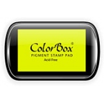 ColorBox® Full Size Ink Pad Lime; Color: Green; Format: Pad; Ink Type: Pigment; Shape: Full Size Rectangle; (model CS15042), price per each