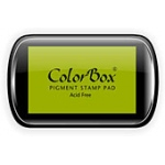 ColorBox® Full Size Ink Pad Moss Green; Color: Green; Format: Pad; Ink Type: Pigment; Shape: Full Size Rectangle; (model CS15062), price per each