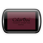 ColorBox® Full Size Ink Pad Chianti; Color: Brown; Format: Pad; Ink Type: Pigment; Shape: Full Size Rectangle; (model CS15071), price per each