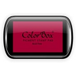 ColorBox® Full Size Ink Pad Ruby; Color: Red/Pink; Format: Pad; Ink Type: Pigment; Shape: Full Size Rectangle; (model CS15074), price per each