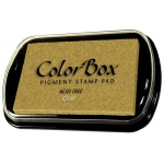 ColorBox® Full Size Ink Pad Gold; Color: Metallic; Format: Pad; Ink Type: Pigment; Shape: Full Size Rectangle; (model CS19091), price per each