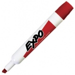 Expo® Dry-Erase Broad-Tip Marker Red; Color: Red/Pink; Tip Type: Chisel Nib; (model SN830-R), price per each