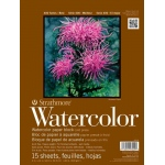 "Strathmore 400 Series Watercolor Paper: Bound Block, 11"" x 15"", 15 Sheets"