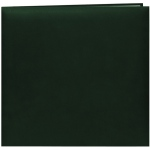 "Pioneer® 12 x 12 Scrapbook Hunter Green: Green, Leatherette, 10 Page Protectors, 12"" x 12"", (model MB10-HG), price per each"