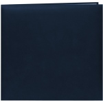 "Pioneer® 12 x 12 Scrapbook Navy Blue: Blue, Leatherette, 10 Page Protectors, 12"" x 12"", (model MB10-NB), price per each"