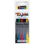 Jacquard Tee Juice™ Fabric Marker Set 4; Color: Multi; Format: Marker; Type: Fabric; (model PENBX06), price per set