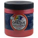 Speedball® 8 oz. Opaque Fabric Screen Printing Ink Raspberry; Color: Red/Pink; Format: Jar; Ink Type: Fabric; Size: 8 oz; Type: Screen Printing; (model 4801), price per each