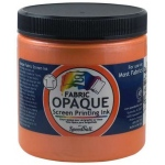 Speedball® 8 oz. Opaque Fabric Screen Printing Ink Sherbet; Color: Orange; Format: Jar; Ink Type: Fabric; Size: 8 oz; Type: Screen Printing; (model 4809), price per each