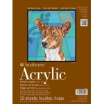 "Strathmore 400 Series Acrylic Paper: Glue Bound Pad with Flip Over Cover, 12"" x 18"", 24 Sheets"