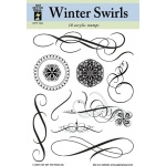 "Hot Off the Press Clear Acrylic Stamp Set Winter Swirls; Material: Acrylic; Mounted: No; Size: 5 1/2"" x 7""; (model HOTP1004), price per each"