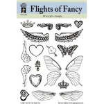 "Hot Off the Press Clear Acrylic Stamp Set Flights Of Fancy; Material: Acrylic; Mounted: No; Size: 5 1/2"" x 7""; (model HOTP1009), price per each"