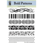 "Hot Off the Press Clear Acrylic Stamp Set Bold Patterns; Material: Acrylic; Mounted: No; Size: 5 1/2"" x 7""; (model HOTP1010), price per each"