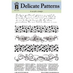 "Hot Off the Press Clear Stamp Set: Delicate Patterns, 5 1/2"" x 7"""