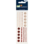 """Blue Hills Studio™ ColorStories™ Adhesive Pearls Red; Color: Red/Pink; Material: Pearl; Size: 2"""" x 5 3/4""""; Type: Dimensional; (model BHS10103), price per each"""