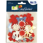 """Blue Hills Studio™ ColorStories™ Handmade Paper Potpourri Red; Color: Red/Pink; Material: Paper; Size: 2 1/4""""; Type: Dimensional; (model BHS10110), price per each"""