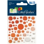 """Blue Hills Studio™ ColorStories™ Epoxy Color Spots Stickers Red; Color: Red/Pink; Material: Epoxy; Size: 3 1/4"""" x 3 1/4""""; Type: Dimensional; (model BHS10117), price per each"""