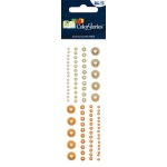 """Blue Hills Studio™ ColorStories™ Adhesive Pearls Yellow; Color: Yellow; Material: Pearl; Size: 2"""" x 5 3/4""""; Type: Dimensional; (model BHS10203), price per each"""