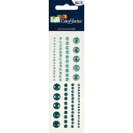 """Blue Hills Studio™ ColorStories™ Adhesive Gems Green; Color: Green; Material: Gem; Size: 2"""" x 5 3/4""""; Type: Dimensional; (model BHS10302), price per each"""
