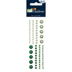 """Blue Hills Studio™ ColorStories™ Adhesive Pearls Green; Color: Green; Material: Gem; Size: 2"""" x 5 3/4""""; Type: Dimensional; (model BHS10303), price per each"""