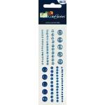 "Blue Hills Studio™ ColorStories™ Adhesive Gems Blue; Color: Blue; Material: Gem; Size: 2"" x 5 3/4""; Type: Dimensional; (model BHS10402), price per each"