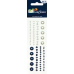 """Blue Hills Studio™ ColorStories™ Adhesive Pearls Blue; Color: Blue; Material: Pearl; Size: 2"""" x 5 3/4""""; Type: Dimensional; (model BHS10403), price per each"""