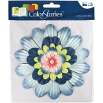 """Blue Hills Studio™ ColorStories™ Handmade Paper Stacked Flowers Blue; Color: Blue; Material: Paper; Size: 6""""; Type: Dimensional; (model BHS10409), price per each"""