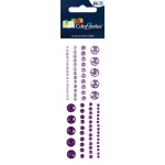 "Blue Hills Studio™ ColorStories™ Adhesive Gems Purple; Color: Purple; Material: Gem; Size: 2"" x 5 3/4""; Type: Dimensional; (model BHS10502), price per each"