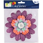 """Blue Hills Studio™ ColorStories™ Handmade Paper Stacked Flowers Purple; Color: Purple; Material: Paper; Size: 6""""; Type: Dimensional; (model BHS10509), price per each"""