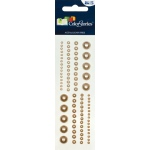 """Blue Hills Studio™ ColorStories™ Adhesive Pearls Brown; Color: Brown; Material: Pearl; Size: 2"""" x 5 3/4""""; Type: Dimensional; (model BHS10603), price per each"""