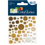 """Blue Hills Studio™ ColorStories™ Epoxy Color Spots Stickers Brown; Color: Brown; Material: Epoxy; Size: 3 1/4"""" x 3 1/4""""; Type: Dimensional; (model BHS10617), price per each"""